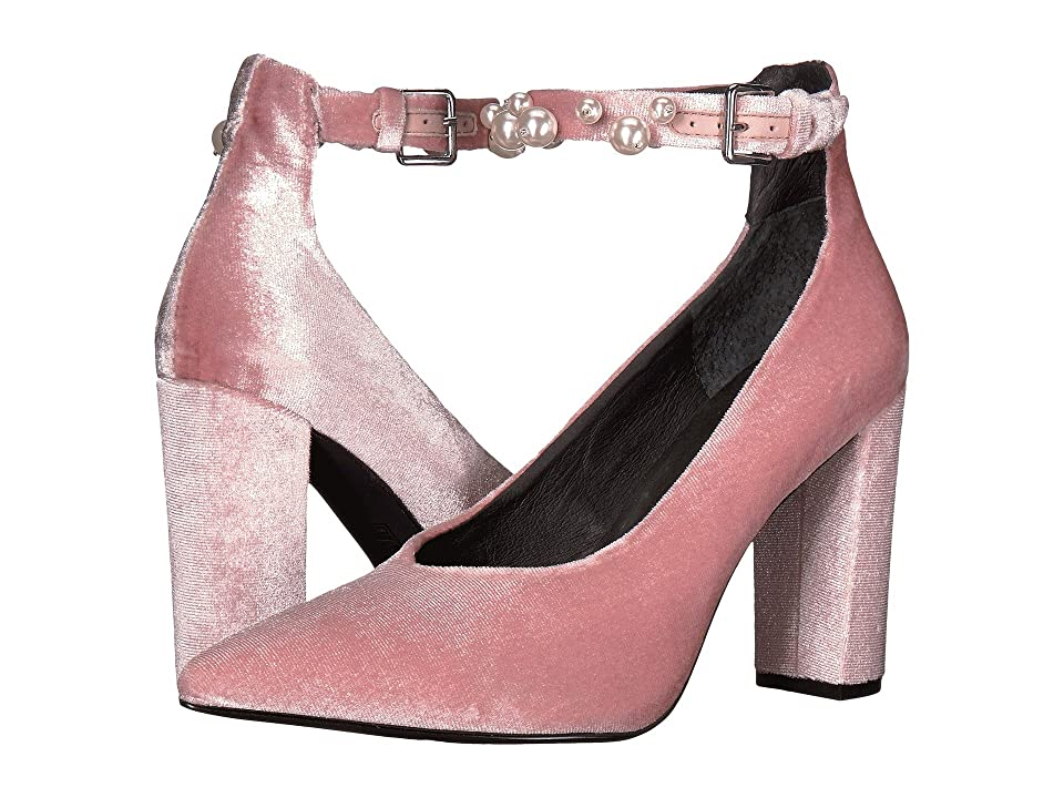 Sol Sana Isla Heel (Dusty Rose Velvet Pearl) High Heels