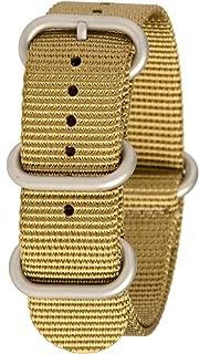 Bertucci G10 Heavy-Duty Nylon Webbing B-212N Khaki 22mm 7/8 Watch Band