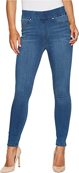 Liverpool Farrah High-Waist Pull-On Ankle in Silky Soft Denim in Coronado Mid