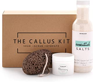 Natural Callus Removal Kit with Pumice Stone For Feet, 20% Urea Foot Cream, and Eucalyptus Foot Soak