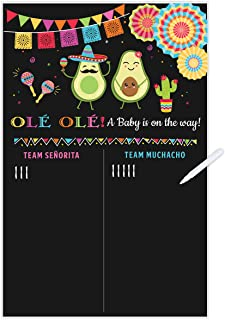 Fiesta Baby Gender Reveal Party Game Voting Poster Board 11x17 Inches Gender Reveal Party Supplies Ideas