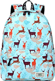 """Mygreen Backpack for Girls Lightweight School Bag with Compartment Waterproof Daypack Bookbag fit 13"""" Laptop Turquoise"""