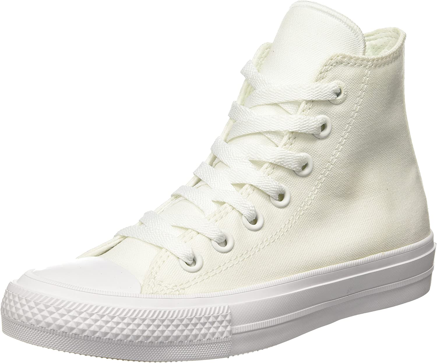 Converse Unisex Chuck Taylor All Star II Hi Basketball shoes White White Navy 12