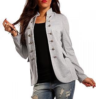 113b33f252e51 Made Italy - Veste de Tailleur - Uni - Manches Longues - Femme