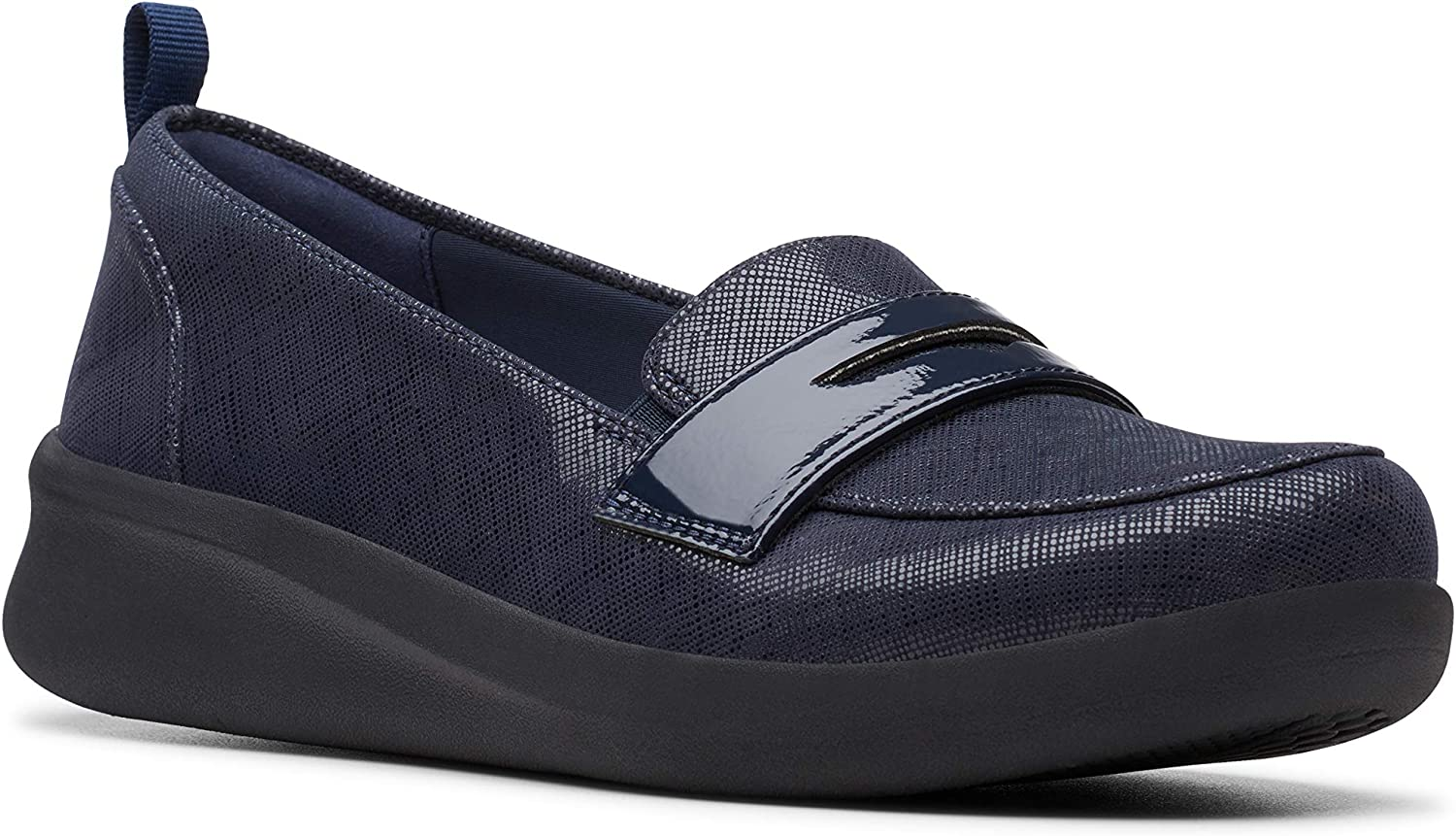 Clarks Women's Sillian 2.0 Navy New Free Shipping Hope Loafer 8 Purchase
