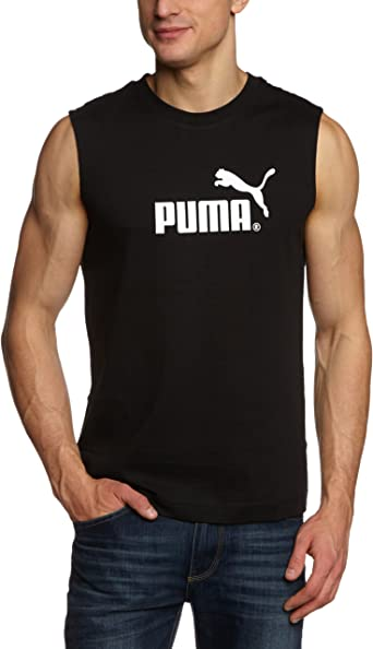 Puma Débardeur Homme Noir/Blanc FR : 44/46 (Taille Fabricant : S ...