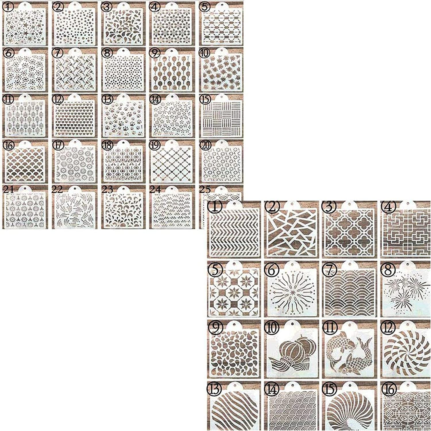 57 Pieces Max 80% OFF Cookie Stencil Set Raleigh Mall Cakes Uspacific Bak