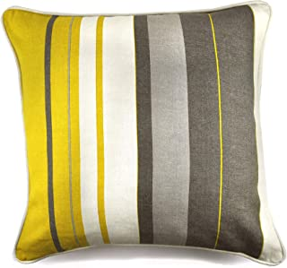 Fusion Whitworth Stripe Funda de cojín, 100% algodón, Ocre, 43x43cm (17x17)