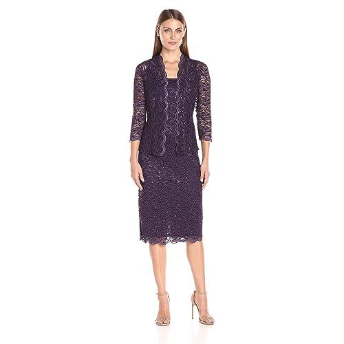 2ef7c5888f4 Mother of The Bride Tea Length Dress  Amazon.com