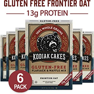 Kodiak Cakes Frontier Oat Gluten Free Protein Pancake and Waffle Mix, 16oz (Pack of 6)