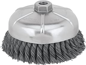 DEWALT Wire Cup Brush, Knotted, 6-Inch (DW4917)