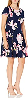 Jessica Howard Women's Cap Sleeve Fit and Flare Dress