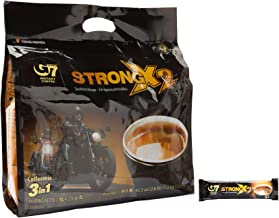 Trung Nguyen G7 Coffee Gu Manh X2 Extra Strength, 3 in 1 Coffee, 36 sticks x 25 grams