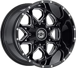 Scorpion Wheels SC10 20x10 Black Milled 8x165 -19 Offset 125.2 CB Rim