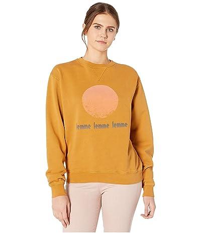 CURRENT/ELLIOTT The Isabella Sweatshirt (Honey Ce Ground) Women
