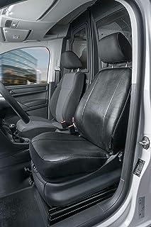 Autositzbezüge für VW Caddy III ab 04 1+1 Front Transporter Schwarz Sitzbezug