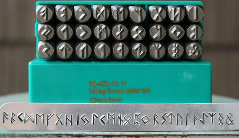 Over item handling 27 Stamp Viking Rune Metal Set 2021 new Design Jewelry Punch