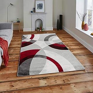 Koton ANTA Tapis De Salon Contemporain (Rouge, 120 X 160 Cm)