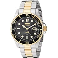 Men's Pro Diver Quartz Watch with Stainless Steel Strap, Two Tone, 22 (Model: 30023)