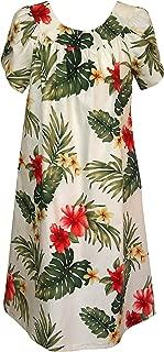 RJC Women's Tropical Summer Hibiscus Muumuu Dress