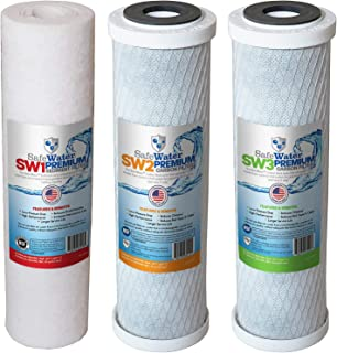 SafeWater Filter-Set USA MADE Reverse Osmosis RO Filter Replacement Set for All Standard and ULTIMATE 3 Stage Systems - Do...