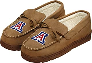 FOCO NCAA Mens College Team Logo Moccasin Slippers Shoes