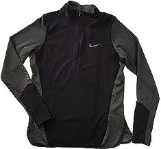 Nike Womens AeroReact Half-Zip Soft Shell Long Sleeve Running Shirt 800936-010 (xs) Black/Grey