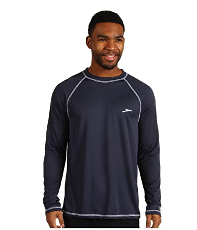 Speedo Easy L/S Swim Tee (New Navy) Men