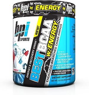 BPI Sports -BCAA Powder with Energy, Rainbow Ice, 25 Servings, 8.8 Ounce,