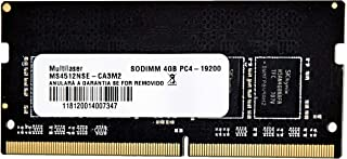 Multilaser MM424 Dimm 4Gb Pc4-19200, Preto
