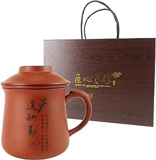 Chinese Kung Fu Tea Set Handmade Ceramic Portable Zi Sha Tea Set Outdoor Travel Tea Cup of Tea Ceremony Multifunctional Te...