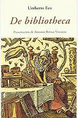 De bibliotheca (Italian Edition) eBook Kindle