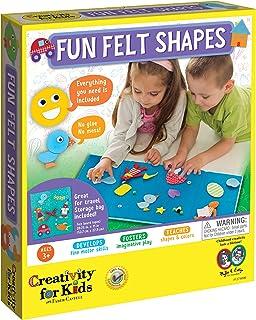 Creativity for Kids My First Fun Felt Shapes - Portable Felt Board for Preschoolers