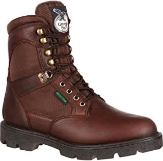 Georgia Boot Men's Homeland 8 Inch Steel Toe Work Shoe, Brown, 10.5 W US