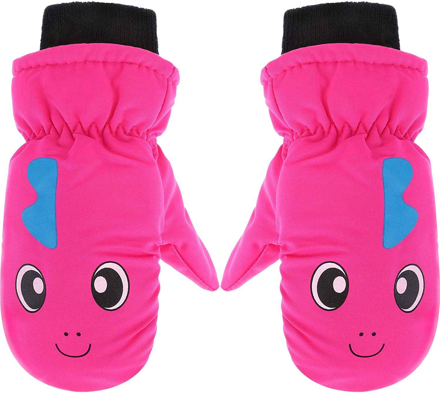 Snow Mittens Winter Ski Mittens Waterproof Warm Cotton-lined Gloves for Kids: Clothing, Shoes & Jewelry