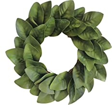 "Xmas Arts& Crafts 21"" Artificial Magnolia Wreath with Magnolia Leaves for Festival Celebration Front Door Wreath Wall Wind..."