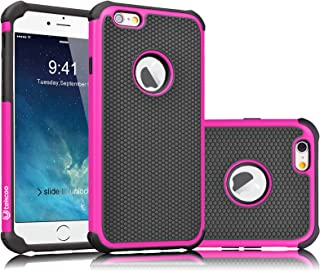 Tekcoo iPhone 6S Case, Tekcoo iPhone 6 Sturdy Case,[Tmajor] for iPhone 6 / 6S (4.7 INCH) Case Shock Absorbing Impact Defender Slim Cover Shell w/Plastic Outer & Rubber Silicone Inner [Hot Pink/Black]