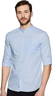 Amazon Brand - Symbol Men's Printed Regular Fit Full Sleeve Cotton Casual Shirt