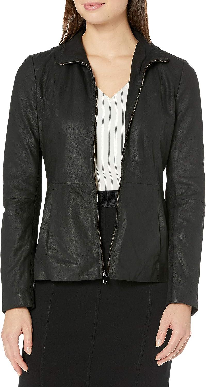 free Amazon Houston Mall Brand - Lark Ro Women's Leather Scuba Jacket