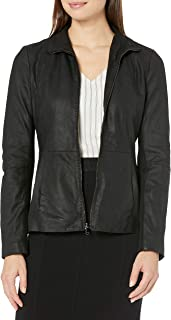 Amazon Brand - Lark & Ro Women's Scuba Leather Jacket
