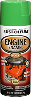 Rust-Oleum 248951 Automotive Rust Preventive Engine Enamel Spray Paint, 12 Oz Aerosol Can, Grabber, 12-Ounce, Green
