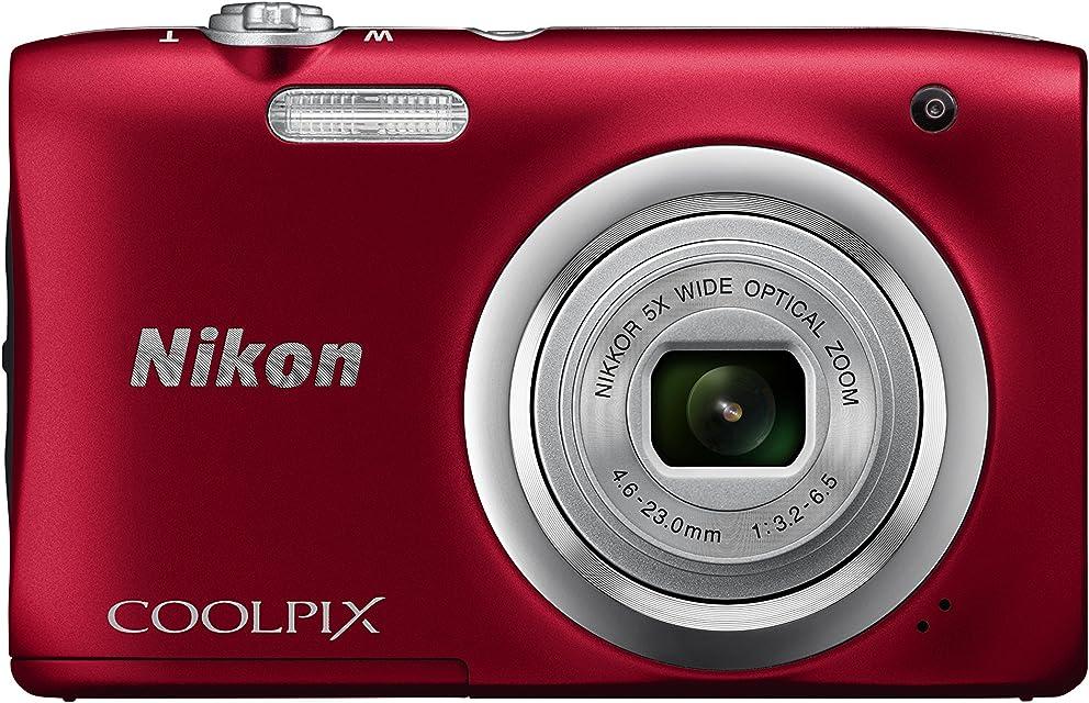 Nikon COOLPIX A100 - Cámara Digital (Cámara compacta 1/2.3 46-23 mm Auto) roja