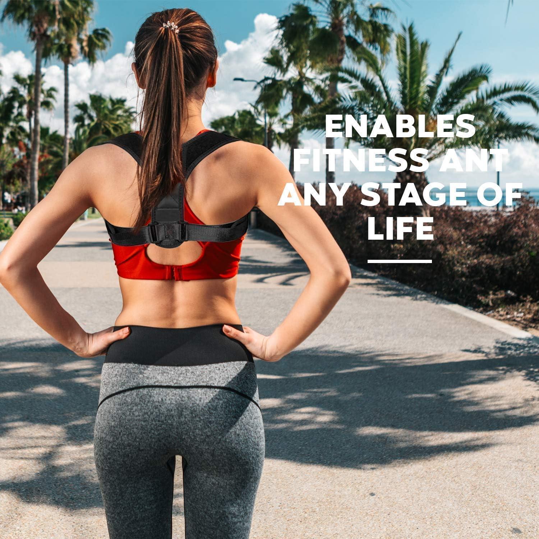 Posture Corrector for Women Men Kids Teens Posture Support Brace Shoulder Back Support Clavicle Brace Adjustable Figure 8 Training Muscles Spine Improve Posture Upper Back Pain Relief