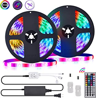 LED Strip Lights 32.8ft with IR Remote RGB Color Changing LED Rope Light Strip for Bedroom Home Party Decoration - Waterproof