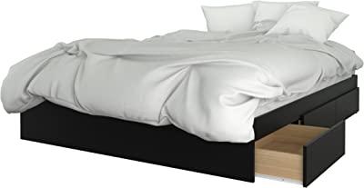 Nexera 376006 3-Drawer Queen Size Storage Bed Black