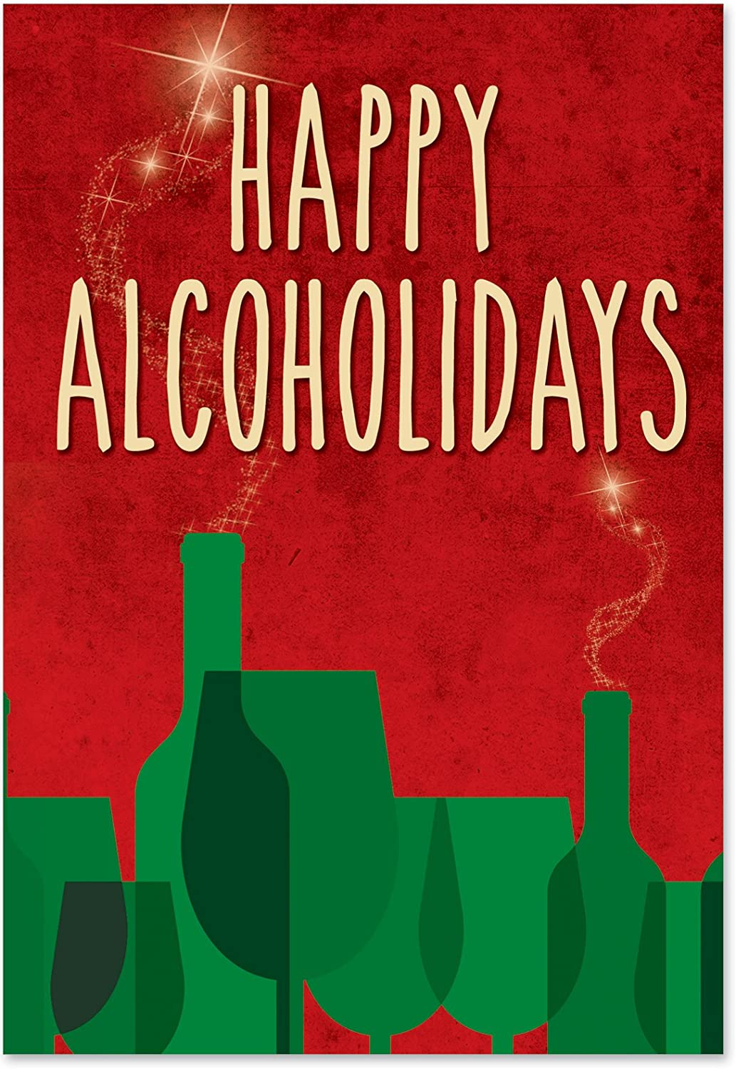 Nobleworks    Happy alcoholidays  Funny Frohe Weihnachten Grußkarte, 12,7 x 17,8 cm (1171) B00WH49H9M | Beliebte Empfehlung