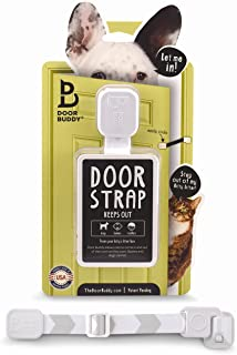 Door Buddy Adjustable Door Strap and Latch – Grey. Dog Proof Litter Box The Easy..