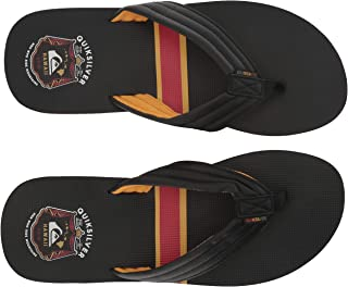 Quiksilver Men's RECLIPSED MWRM Sandal, Black/Yellow/red