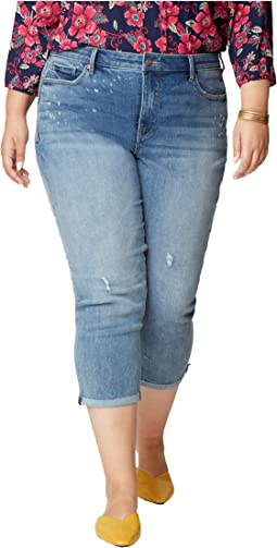 Plus Size Chloe Capri Jeans with Raw Cuffs in Sandspur