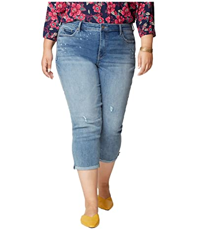 NYDJ Plus Size Plus Size Chloe Capri Jeans with Raw Cuffs in Sandspur (Sandspur) Women